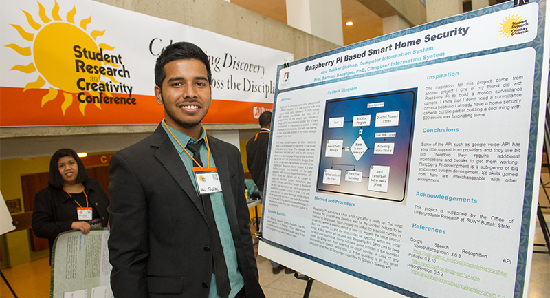 Buffalo State is a pioneer of student research through the Office of Undergraduate Research (OUGR), which connects students with research, creative, and applied learning opportunities across the campus, throughout Western New York, and beyond.
