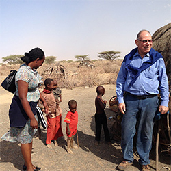 Dr. David Dror, '66, in Africa