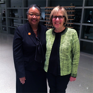 Evelyn Lieberman, '66 and President Katherine Conway-Turner