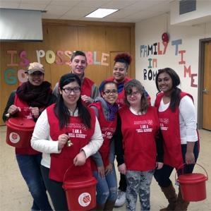 Salvation Army volunteers at Buffalo State's Alternative Winter Break program